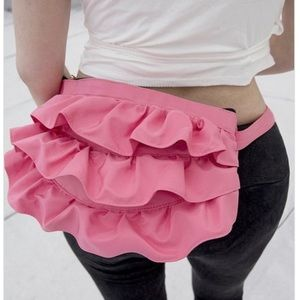 Wavy Fanny Pack and Crossbody Bag - Pink
